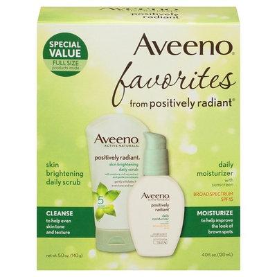Aveeno® Positively Radiant Skin Brightening Daily Scrub & SPF 15 Daily Moisturizer with Sunscreen