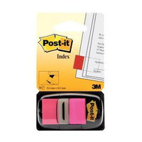 Post-it Index Flags 25mm Bright Pink with Dispenser 1 x 50 Flags