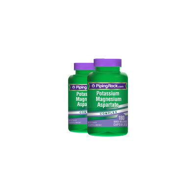 Piping Rock Potassium Magnesium Aspartate Complex 2 Bottles x 180 Capsules