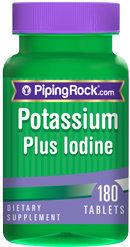 Piping Rock Potassium Plus Iodine 180 Tablets