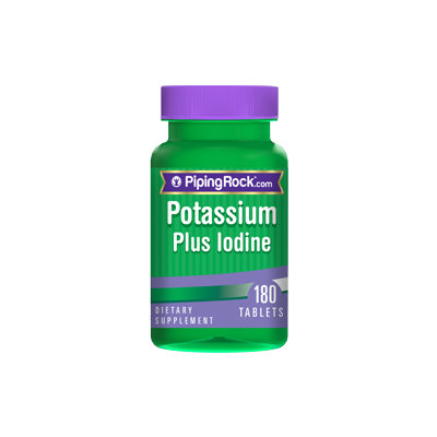 Piping Rock Potassium Plus Iodine 180 Tablets