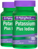 Piping Rock Potassium Plus Iodine 2 Bottles x 180 Tablets