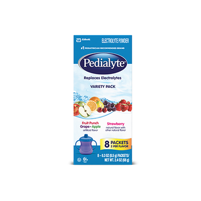 Pedialyte® Powder Variety Pack Fruit Punch, Grape, Apple, and Strawberry