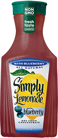 Simply Lemonade With Blueberry Juice