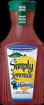Simply Lemonade With Blueberry Juice