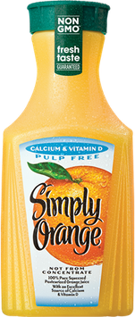 Simply Orange® Pulp Free with Calcium & Vitamin D Juice
