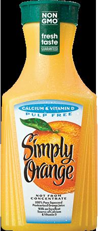 Simply Orange® Pulp Free with Calcium & Vitamin D Juice