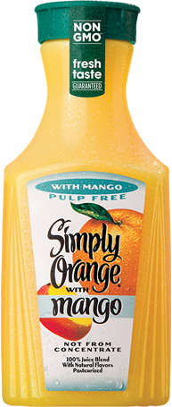 Simply Orange® Pulp Free with Mango Juice