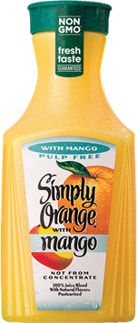 Simply Orange® Pulp Free with Mango Juice