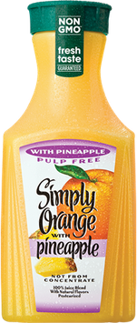 Simply Orange® Pulp Free with Pineapple Juice