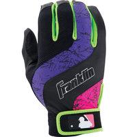 Franklin Sports Shok-Wave Batting Glove Black/Purple/Pink Youth Small