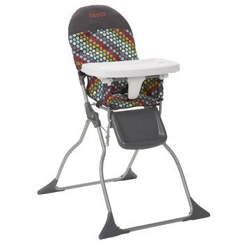 Cosco Simple Fold High Chair (Rainbow Dots)
