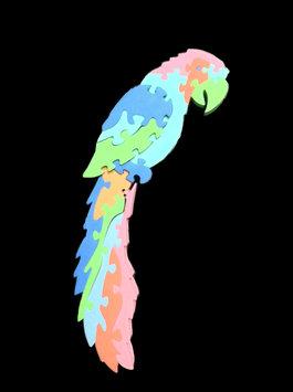 WeGlow International 84FOPP Foam Puzzle - Parrot - Set Of 2