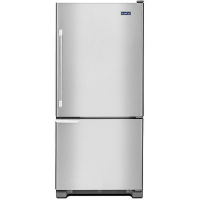 Maytag MBF1953DEM 18.5 Cu. Ft. Stainless Steel Bottom Freezer Refrigerator - Energy Star