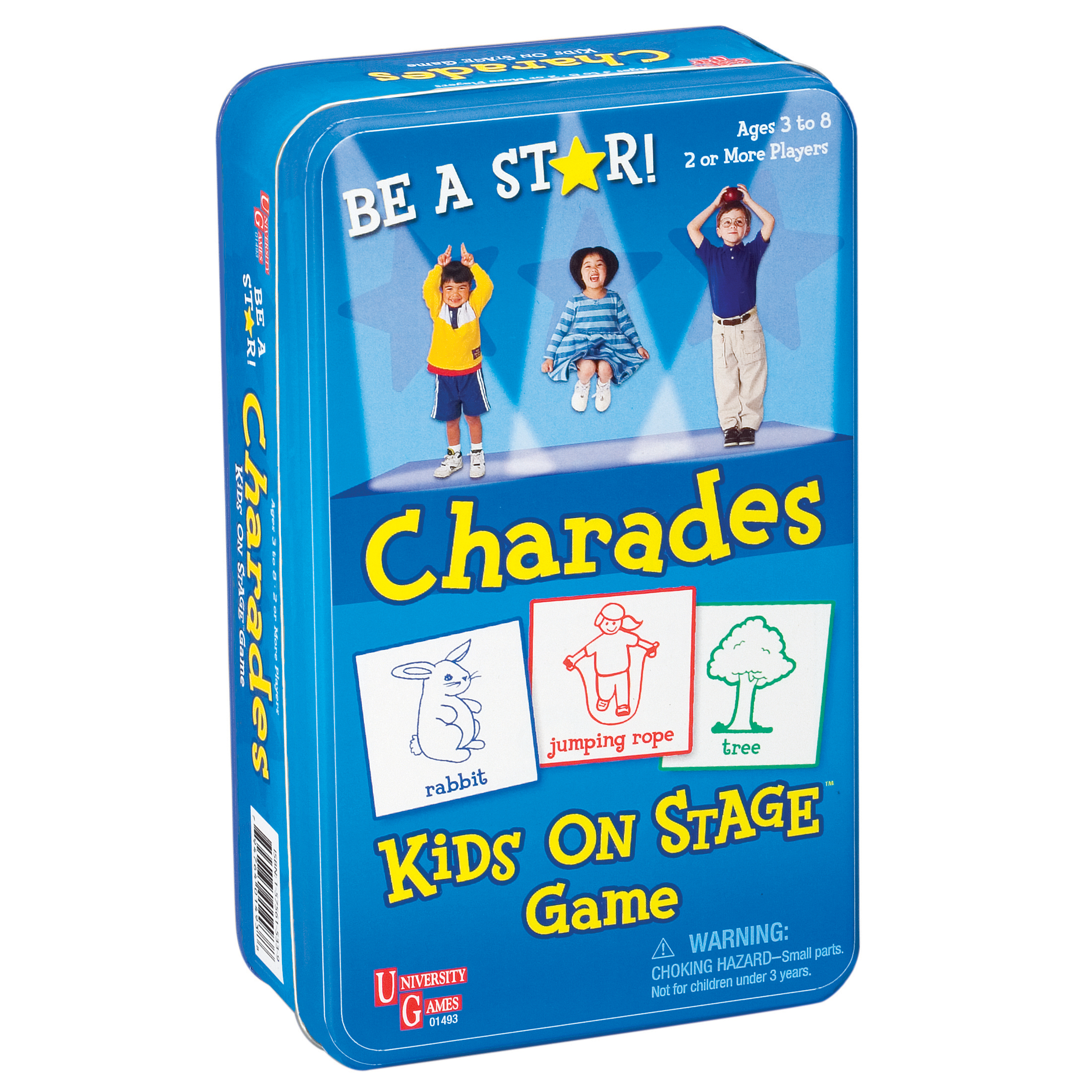 University Games Charades Travel Tin Game