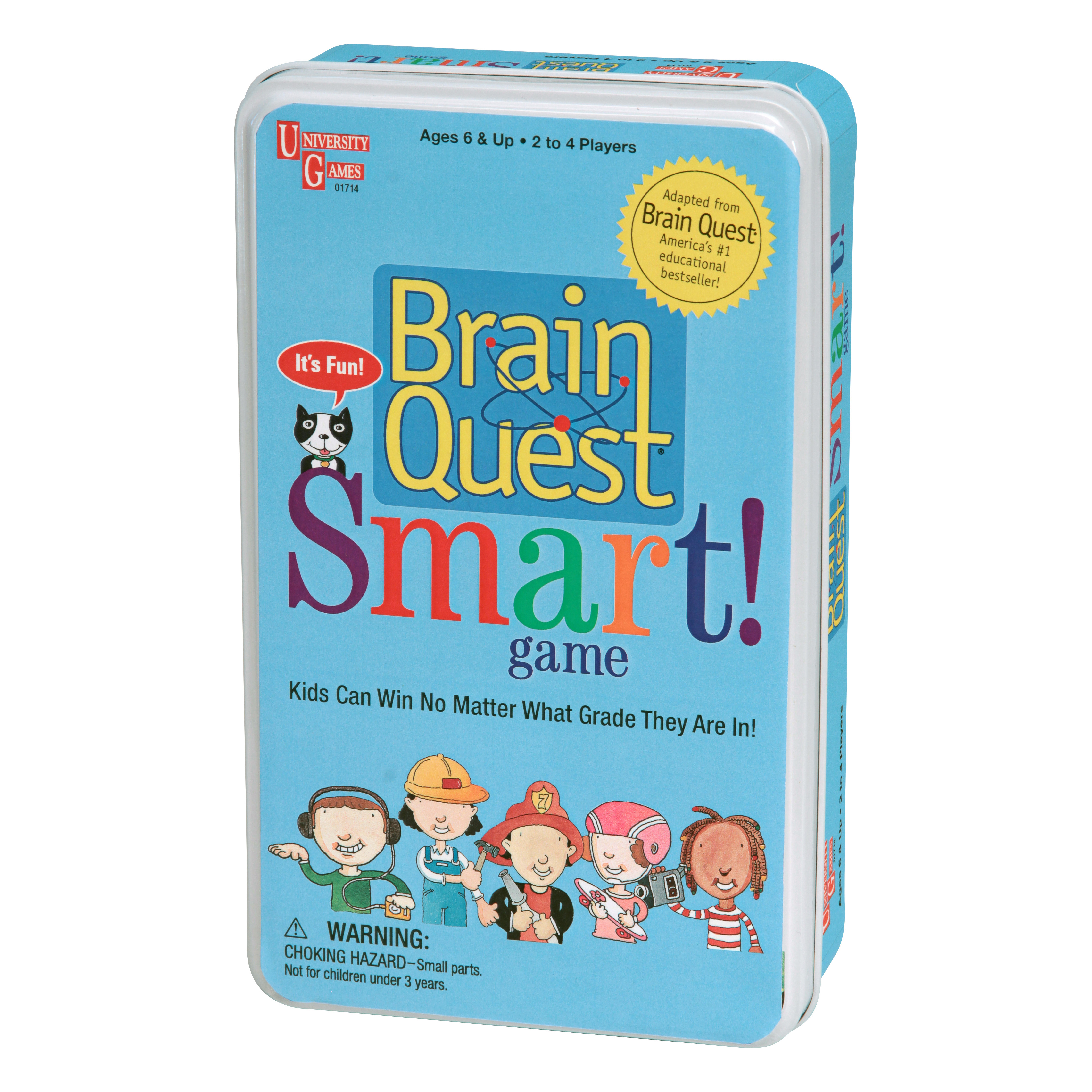 University Games Brain Quest Smart Tin Game
