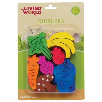Hagen LW Nibblers Wood Fruit/Veggie Mix Small Pet Chew Toy