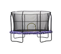 JumpKing 8' x 12' Oval Trampoline with American Stars Graphic Pad