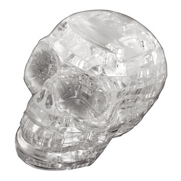 University Games 30944 3D Crystal Puzzle - Skull - Clear