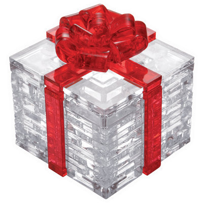 Bepuzzled 3D Crystal Puzzle - Gift Box (Red Bow): 38 Pcs