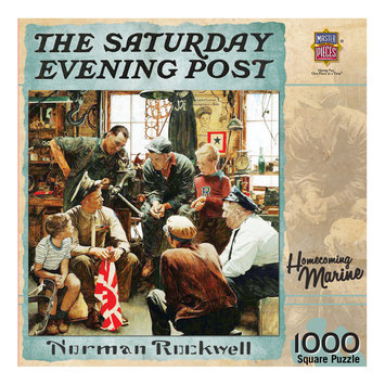 MasterPieces Norman Rockwell Homecoming Marine 1000 PieceJigsaw Puzzle