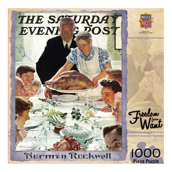 MasterPieces Norman Rockwell Freedom from Want 1000 Piece Jigsaw Puzzle