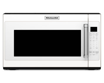 KitchenAid KMHS120EWH 2.0 cu. ft. Over-the-Range Microwave Oven with 1,000 Watts, 10 Power Levels, Sensor Cook Cycles, Keep Warm Function and Cookshield Finish: White