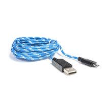 David Shaw Silverware Na Ltd HYPERKIN Micro USB Charge Cable M07025-BW, Blue/White