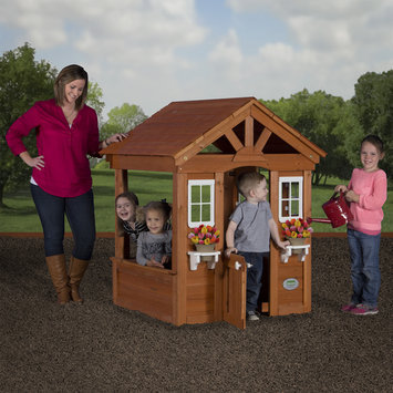 Backyard Discovery Tents and Playhouses Columbus All Cedar Playhouse Browns / Tans 55036com