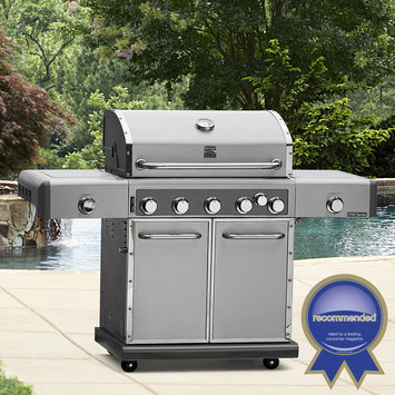 Kenmore Elite 700 Series 5 Burner Dual Fuel Stainless Steel Gas Grill Silver