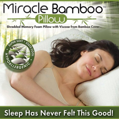 As Seen On TV Miracle Pillow w/Bag