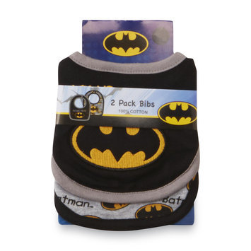 DC Comics Batman Infant Boy's 2 Pack Bibs - Kids With Character