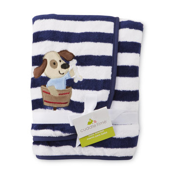 Cuddletime Infant Boy's Plush Blanket Striped - TRIBORO QUILT MFG. CORP.
