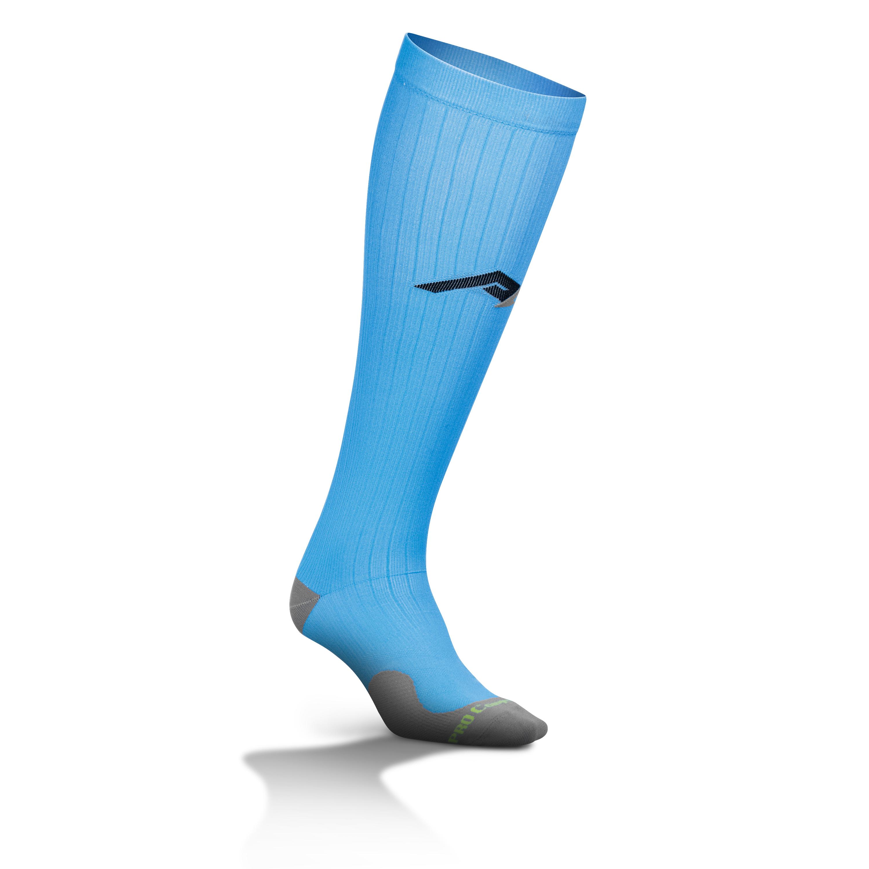 Cam Consumer Products, Inc. Marathon Tall Compression Sock 2122 LXL, Powder Blue