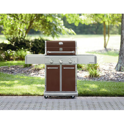 550 Series 3 Burner Dual Fuel Espresso Gas Grill