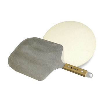 Kettle Pizza Grilling Accessories. Pro Pizza Oven Peel and Stone Kit