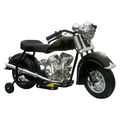 Giggo Toys Little Vintage 6V Battery Powered Indian Motorcycle Color: Black