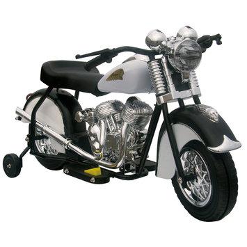 Giggo Toys Black & White Little Vintage Indian Motorcycle Ride-On