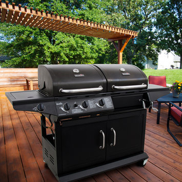 Char-Broil Combination Charcoal Grill and Gas Grill with Side Burner