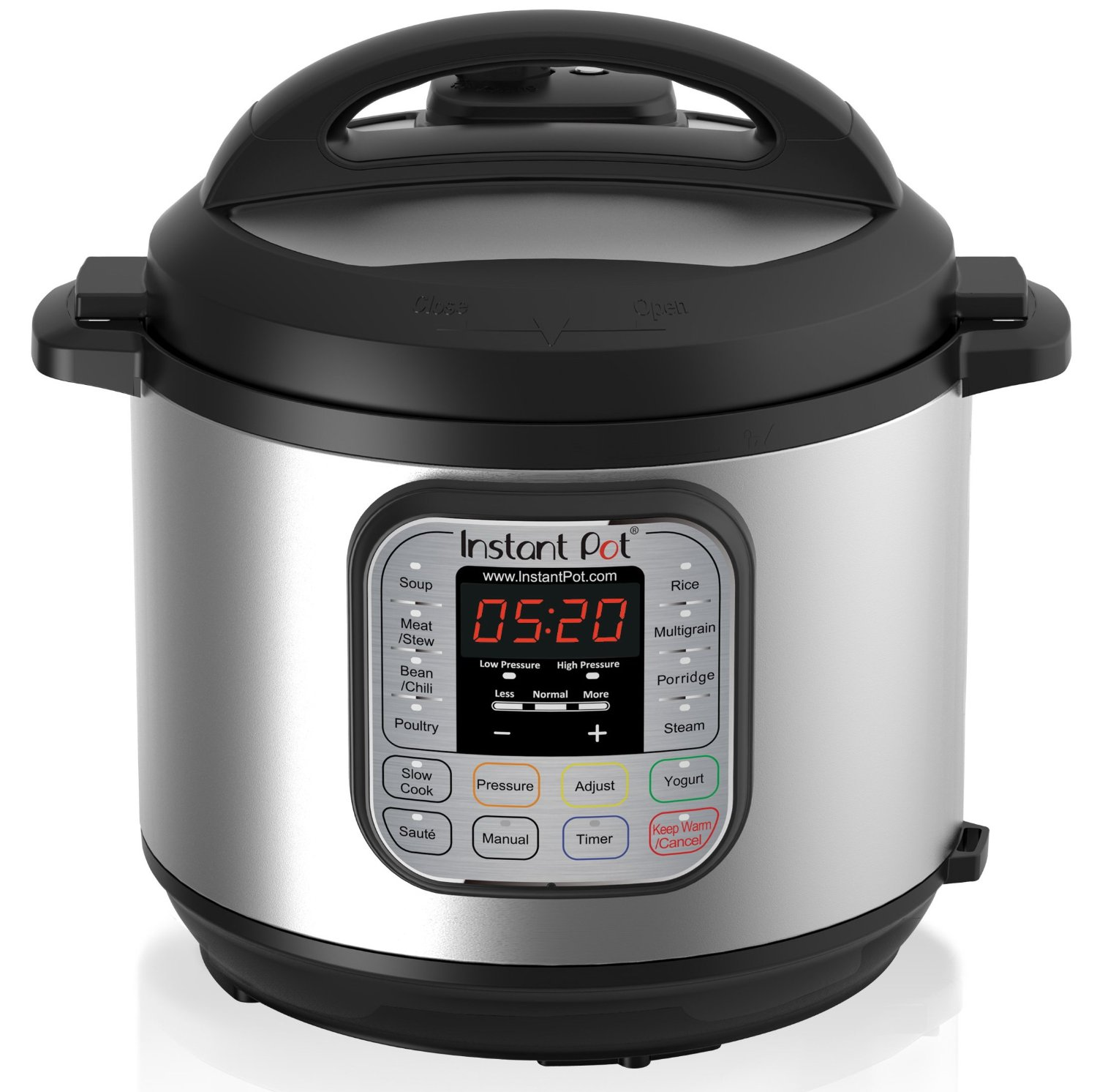 Instant Pot Company Instant Pot IP-DUO60 7-in-1 Programmable Pressure Cooker with Stainless Steel Cooking Pot and Exterior, 6-Quart/1000-watt, Latest 3rd Generation Technology