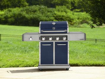 Kenmore Elite 600 Series 4 Burner Dual Fuel Metallic Blue Gas Grill - waterbury garment