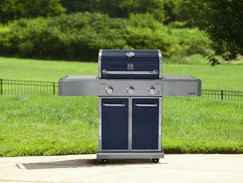 Kenmore Elite 550 Series 3 Burner Dual Fuel Metallic Blue Gas Grill - waterbury garment