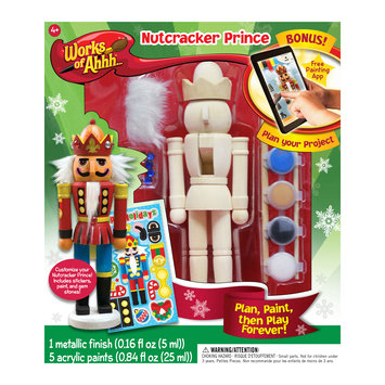 Masterpieces Puzzles Works of Ahhh. Wood Painting Kit - Nutcracker Prince (Silver)