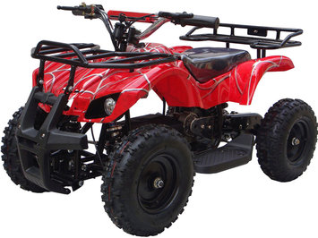 Big Toys MotoTec 24v Mini Quad v4 Wagons ATV Color: Red