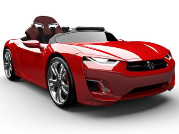 Big Toys Henes Broon F830 12v Car with Tablet Color: Red