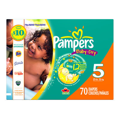 Pampers Baby Dry Diapers, Size 4 (22 37 lb), 92 diapers - PROCTER & GAMBLE COMPANY