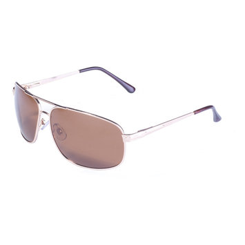 Global Vision Eyewear Corporation Gold Frame w/ Spring Hinge and Brown Polarized Lens