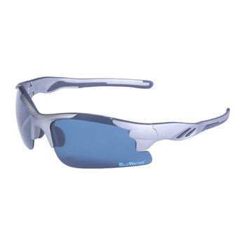 Global Vision Eyewear Corporation Metallic Grey Semi Rimless Frame Grey Polarize Lens