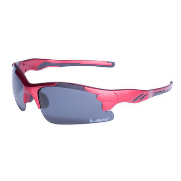 Global Vision Eyewear Corporation Metallic Red Semi Rimless Frame w/Gry Polarize Lens