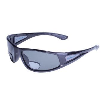Global Vision Eyewear Corporation Shiny Blk Frame w/Grey Polarized Lens Add power 2.5